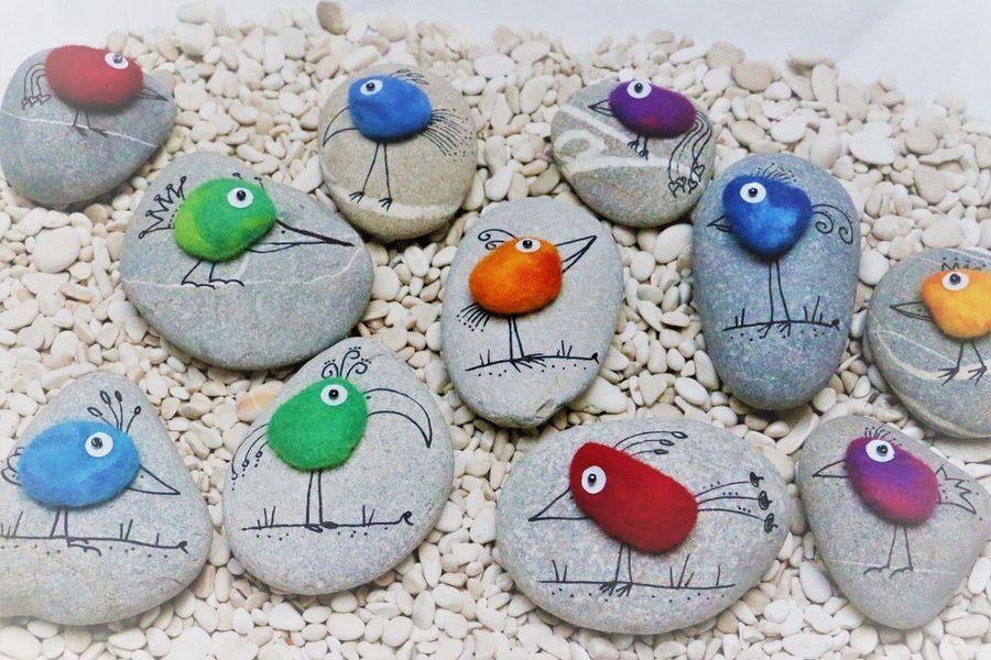 Рисунки из камней для детей