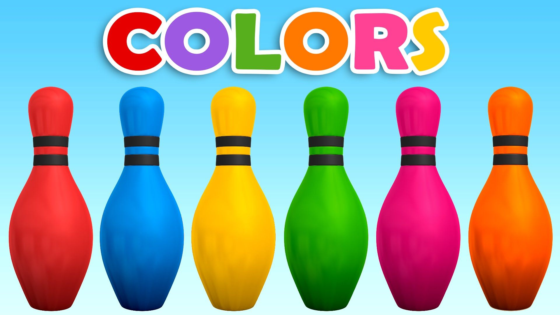 Learn Colors With Colors 3d Bowling Game Learning Colors