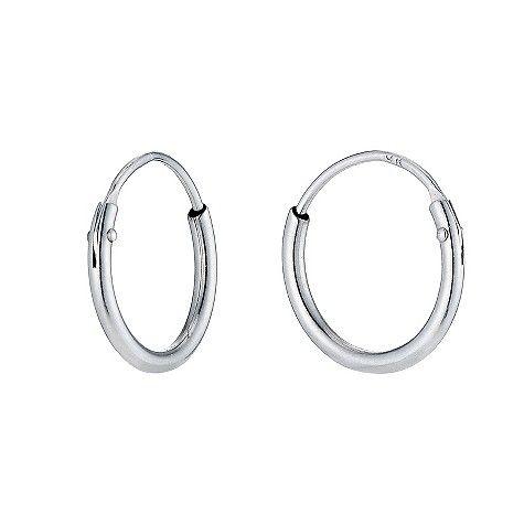 9ct White Gold Small Sleeper Earrings H Samuel The Jeweller