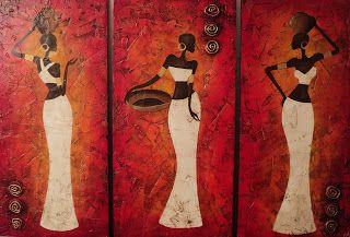 PYN ART: Africanas Estilizadas Texturadas