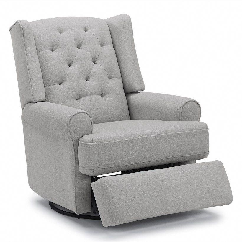Best Chairs Story Time Series Finley Swivel Glider Recliner In Grey Sooth Baby To Sleep In These Hip A Reclining Rocking Chair Swivel Glider Recliner Recliner