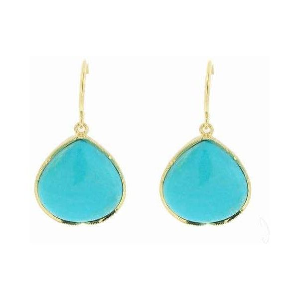 Fat Turquoise Drop Earrings in Yellow Gold ($1,360) ❤ liked on Polyvore featuring jewelry, earrings, accessories, blue, gold earrings, blue earrings, blue drop earrings, turquoise drop earrings and yellow gold drop earrings