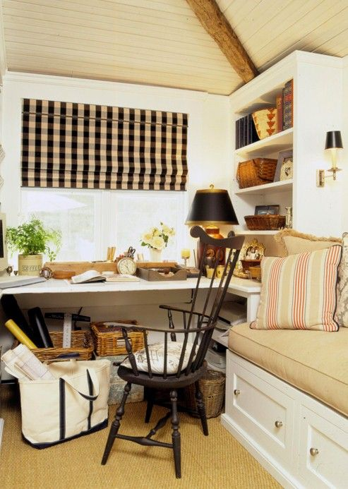 Love The Bench Seating And Wrap Around Desk Good Use Of Storage Under In Corner Bookshelves