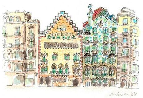 Ilustración y biología / Acuarelas y animales | Casa Batlló
