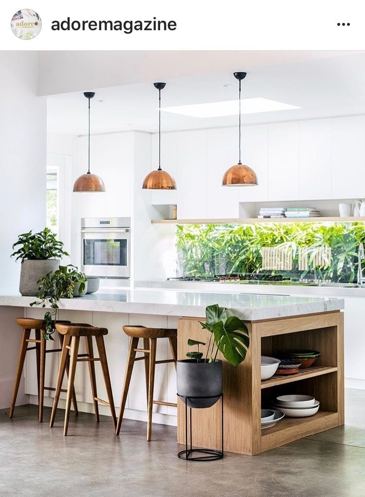 Shelving in end of island. (With images) Kitchen