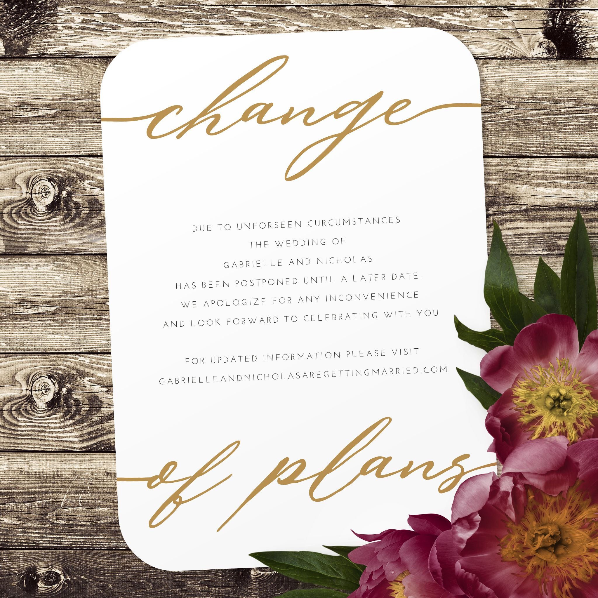 Change of plans in 2020 save the date cards how to plan