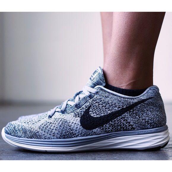 Nike Wolf Grey Flyknit Lunar 3 Sneakers Nike Shoes Pairing Sneakers