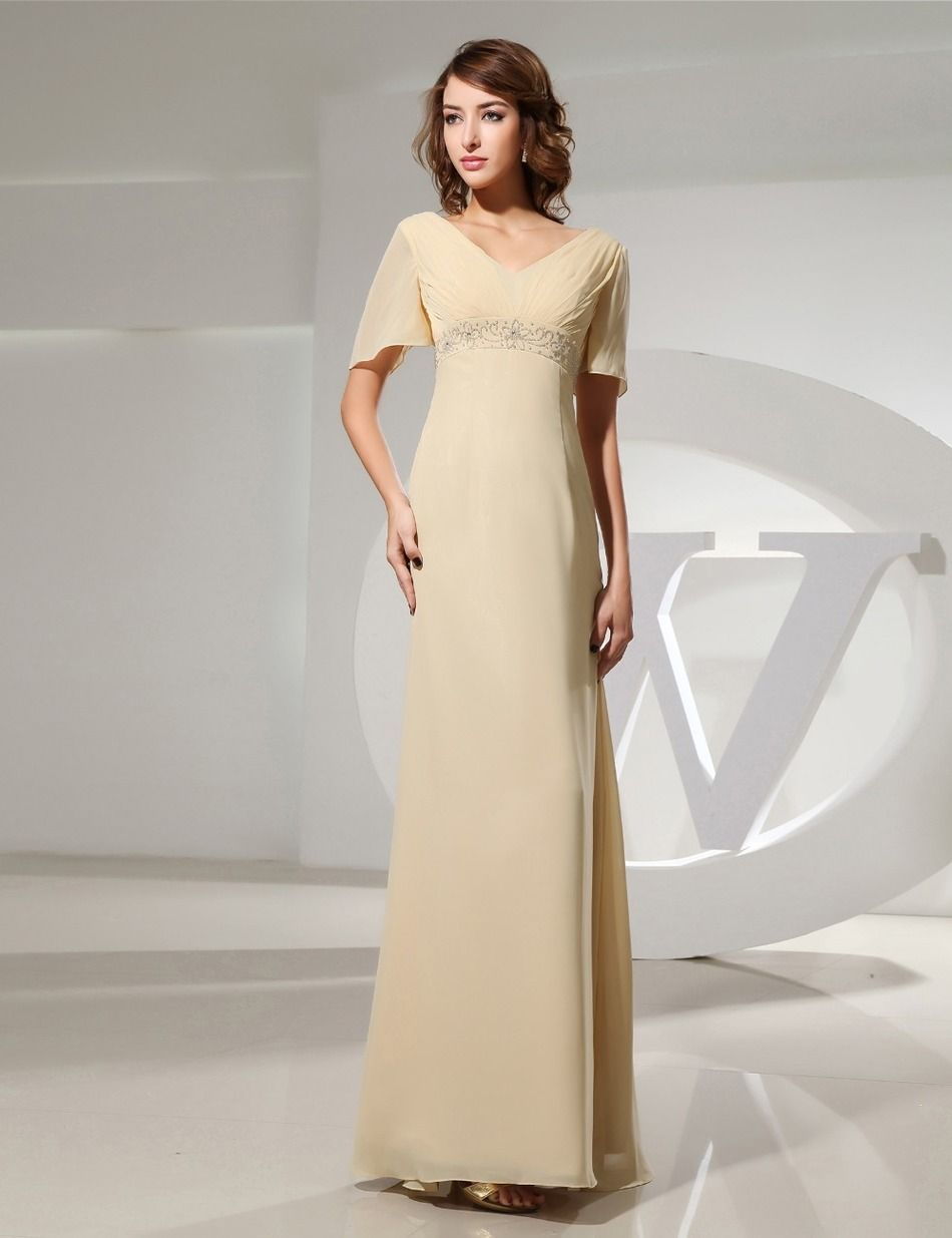 Evening Dress Elegant Party Gowns Formal Classy Long Beaded Cap ...