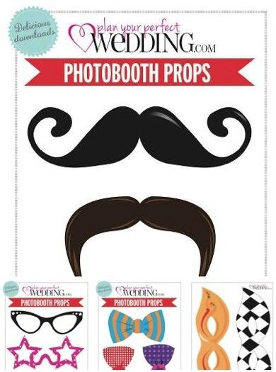 Download our free photo booth templates wedding free for Photo booth props template free download