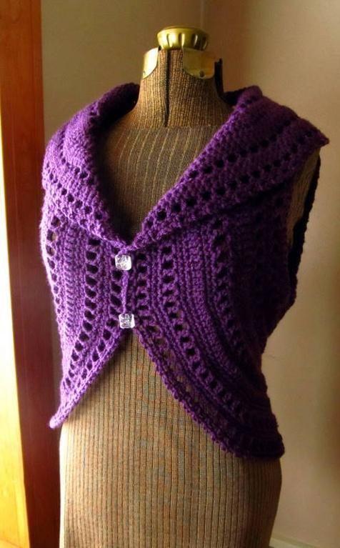 Easy Crochet Baby Vest Pattern : Crochet Ladies Circle Vest or Shrug Circles, Vest ...
