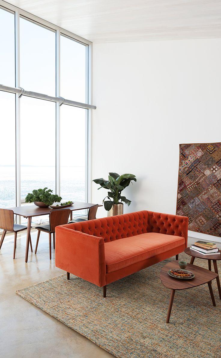 Chester Persimmon Orange Sofa | Pinterest | Interiors, Living rooms ...