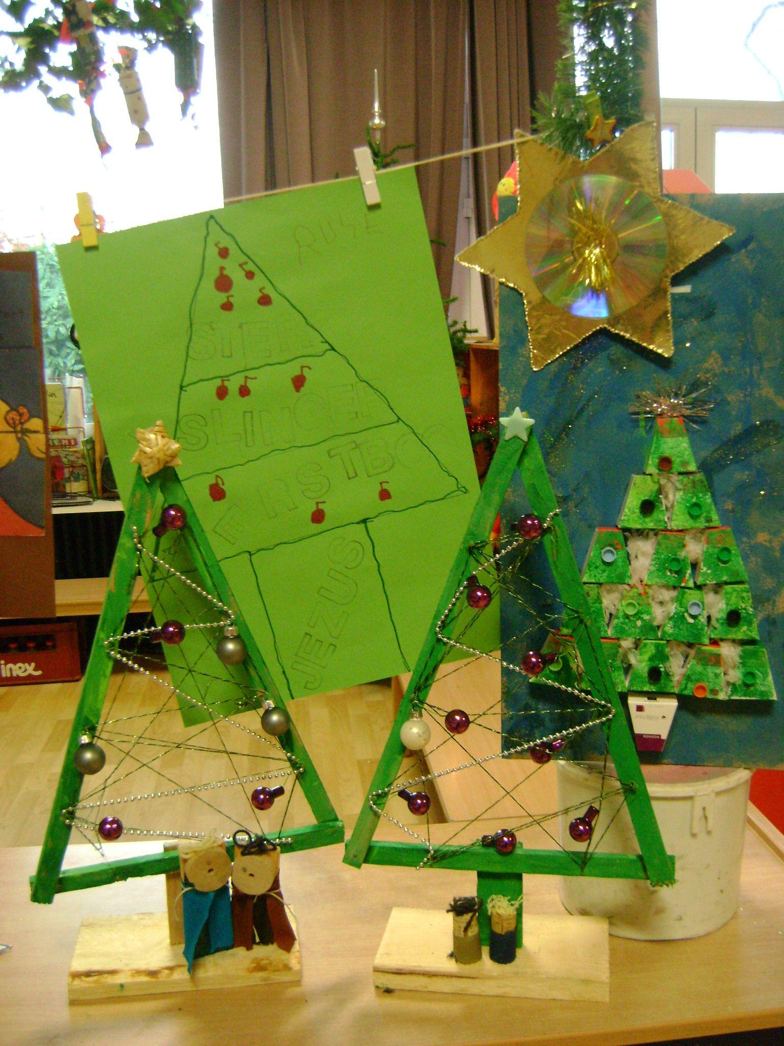 Kerstboom Timmeren Kerst Knutselen Kerst Kerstmis Knutselen