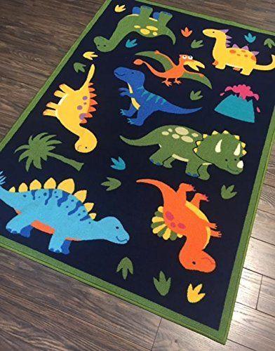 Amazon Com New Comic Style Dinosaurs Kids Play Rug Educational Rug Boys Rugs Girls Rugs Activit Boys Dinosaur Bedroom Boy Toddler Bedroom Dinosaur Bedroom