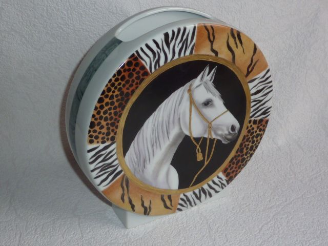 Hermes Hand Painted Plate Cheval