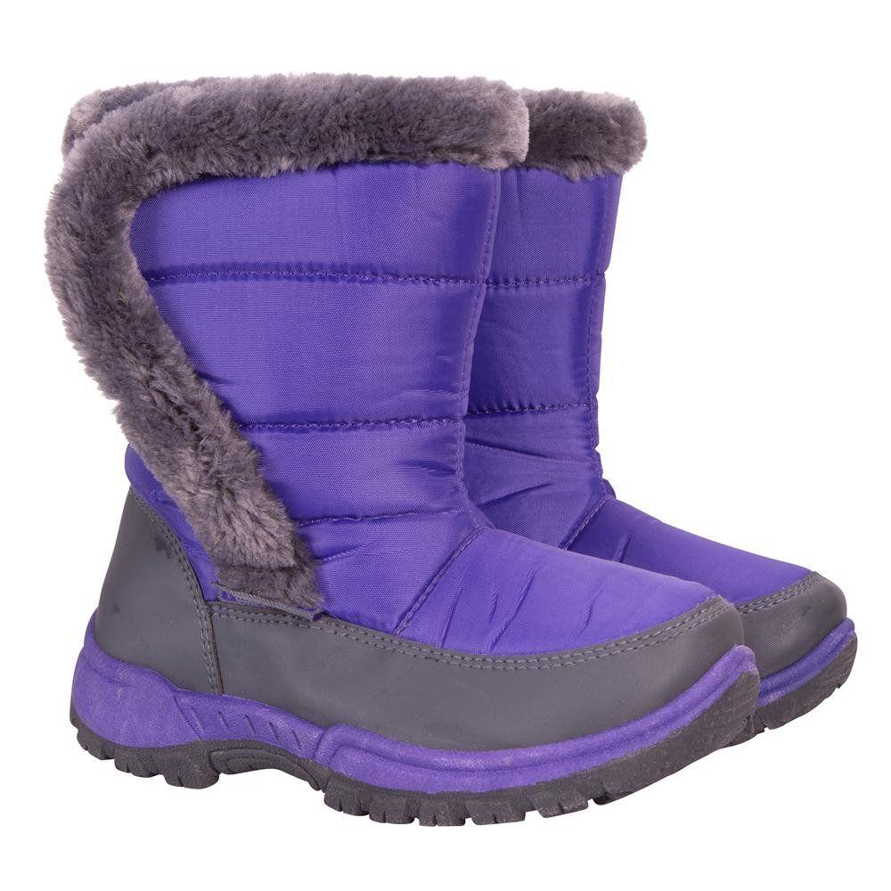483566230ab1 Mountain Warehouse Caribou Kids Fur Trim Snow Boots - Snow Proof ...