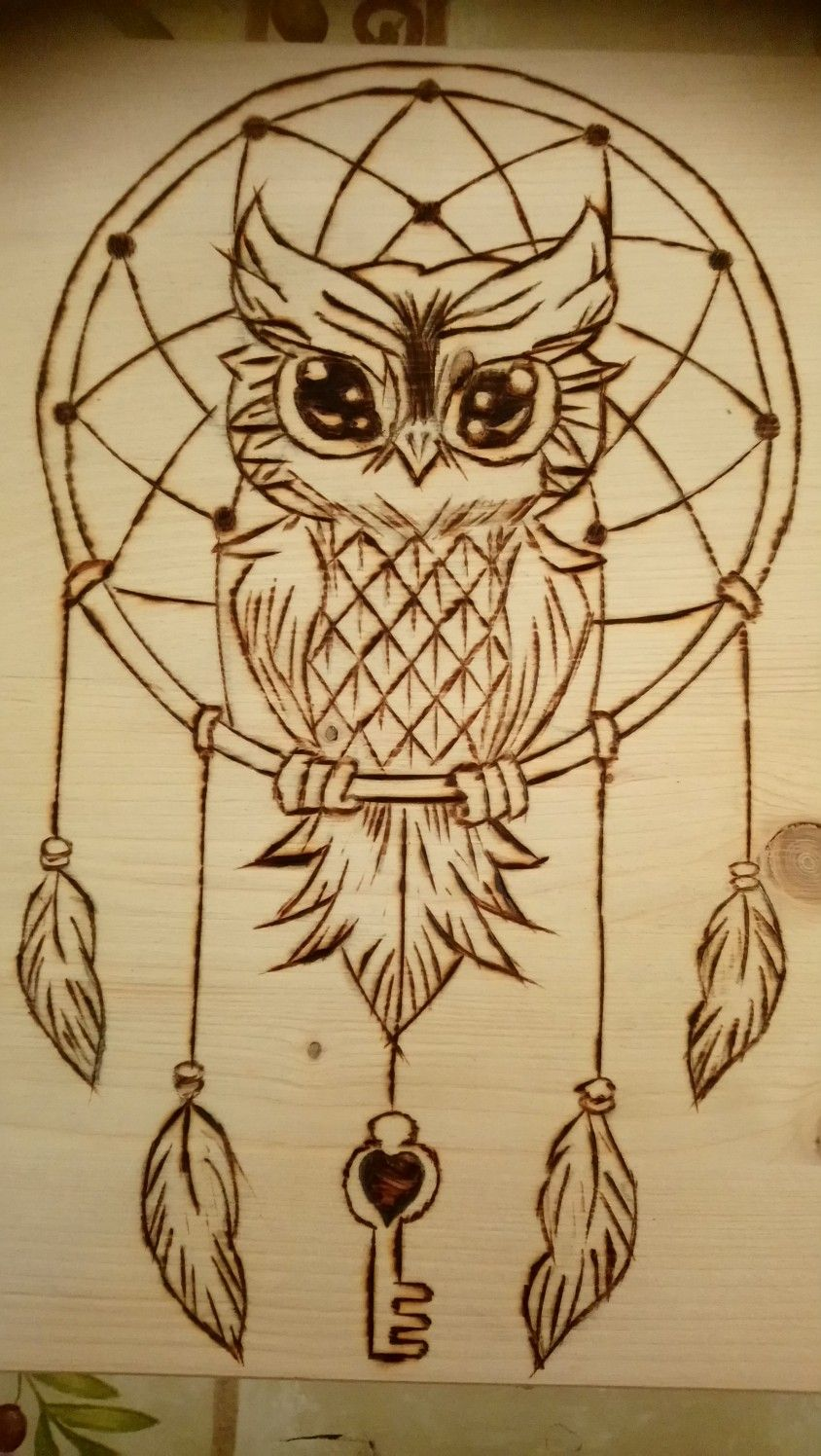 Wonderful Owl And Dream Catcher Pyrography Wood Burning Art Wood Burning Crafts Wood Burning Stencils
