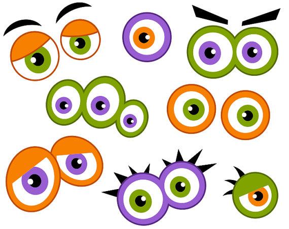 monster eyes digital clip art cute monster eyes halloween monster rh pinterest com monster eyes and mouth clipart monster eyes clipart black and white