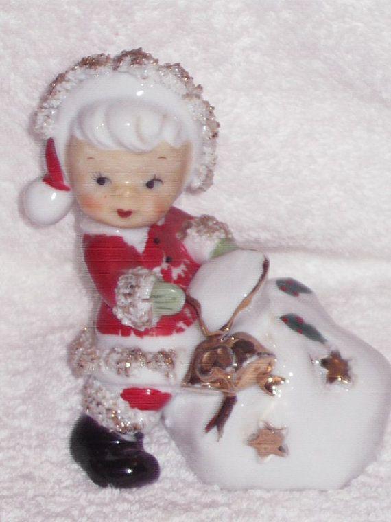 Vintage Christmas Santa Boy Girl Spaghetti by BrilbunnySelections