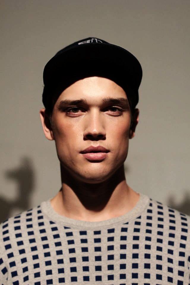 model portrait during fashion show
