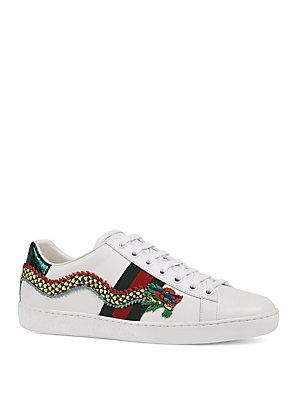 50db619e426 Gucci New Ace Dragon Leather Sneakers