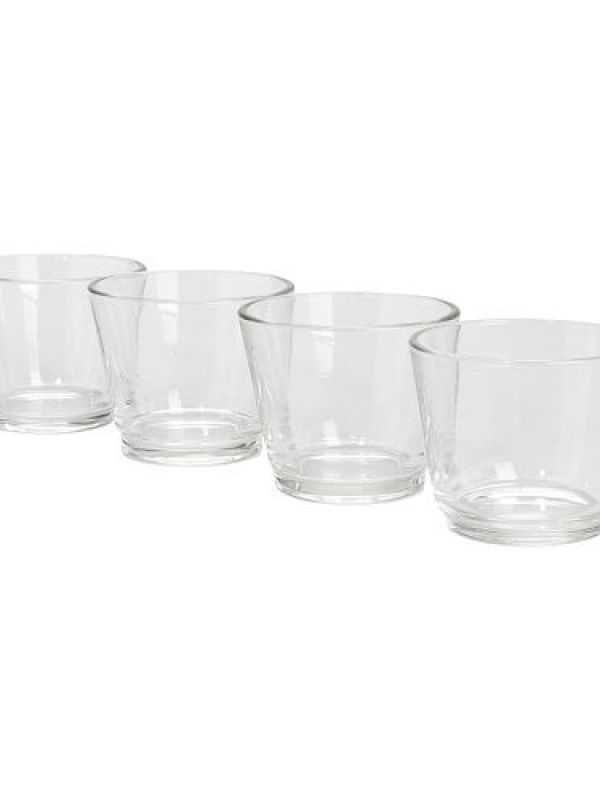 14fc5d29e33 80x IKEA Galej Clear Glass Votives Candle Holders