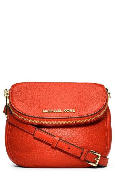 e227994cf399c8 color Mandarin: MICHAEL Michael Kors 'Bedford' Leather Crossbody   Nordstrom