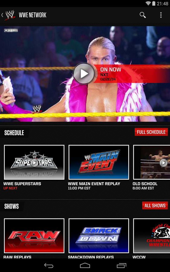 WWE screenshot Wwe, Video on demand, Reality show