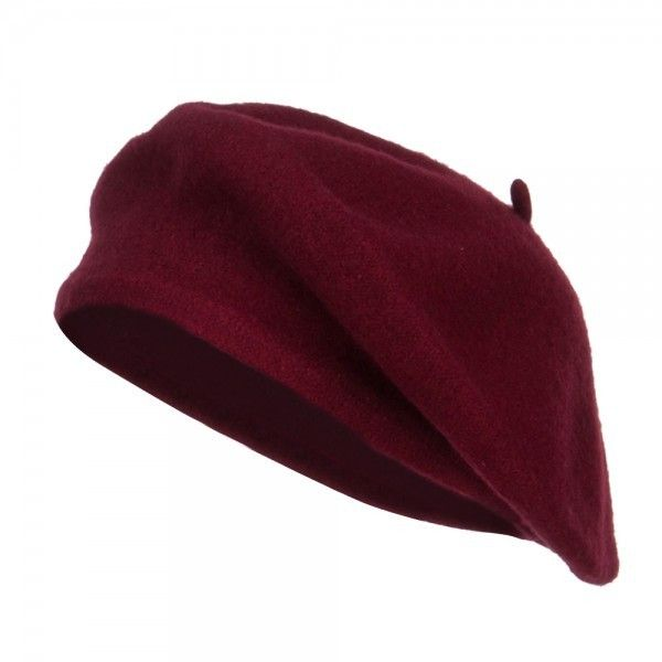 8954d415708c0 Burgundy Ladies Wool Beret ❤ liked on Polyvore featuring accessories