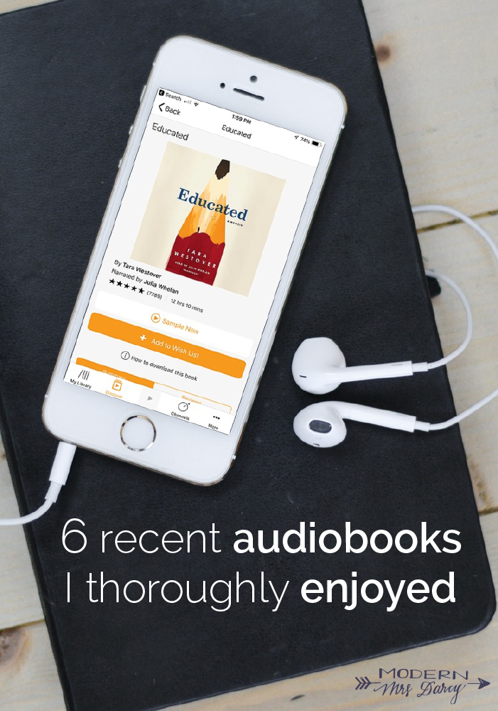 6 Recent Audiobooks I Thoroughly Enjoyed Modern Mrs Darcy Audiobooks Book Club Recommendations Audio Books