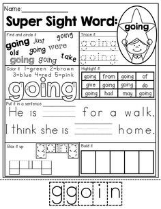 Sight Word Pages! So many different ways to master each sight word ...