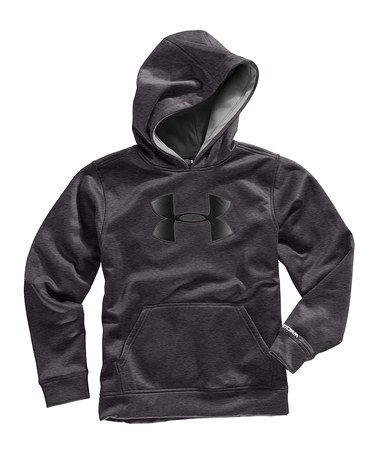 size 40 6d897 e615f Carbon Heather Armour® Fleece Storm Big Logo Hoodie - Boys by Under Armour®  on  zulily today!