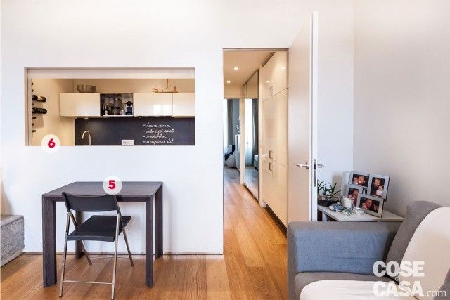 50 mq con soluzioni d\'arredo salvaspazio nel 2019 | Idee | House ...