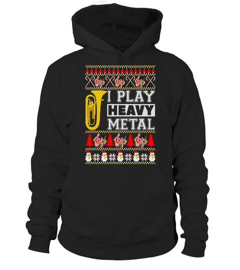 Tuba I Play Heavy Metal Ugly Christmas Sweater T Shirt Special