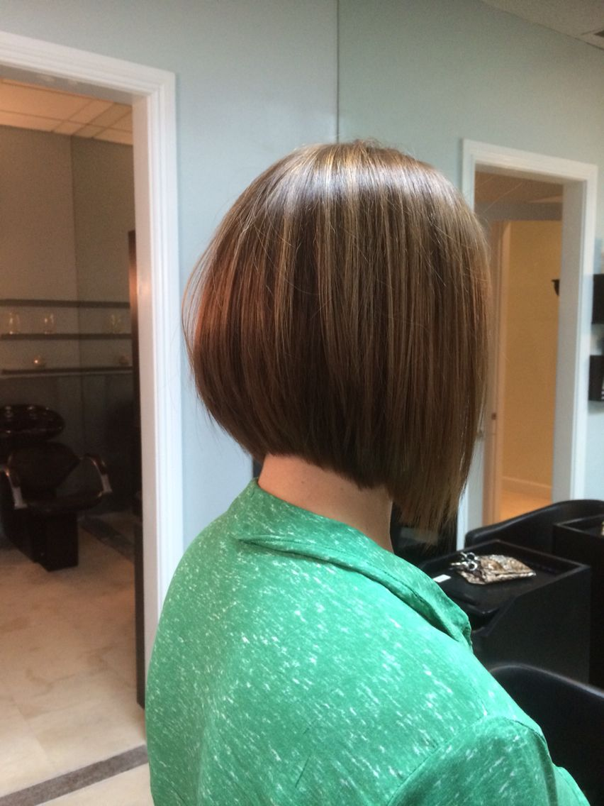 Boblowlights bobs stacked back pinterest bobs cut hairstyles