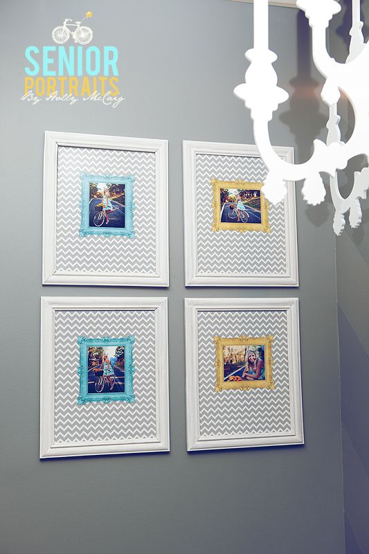 Fun! Chevron design in the frames instead of just plain white mat ...