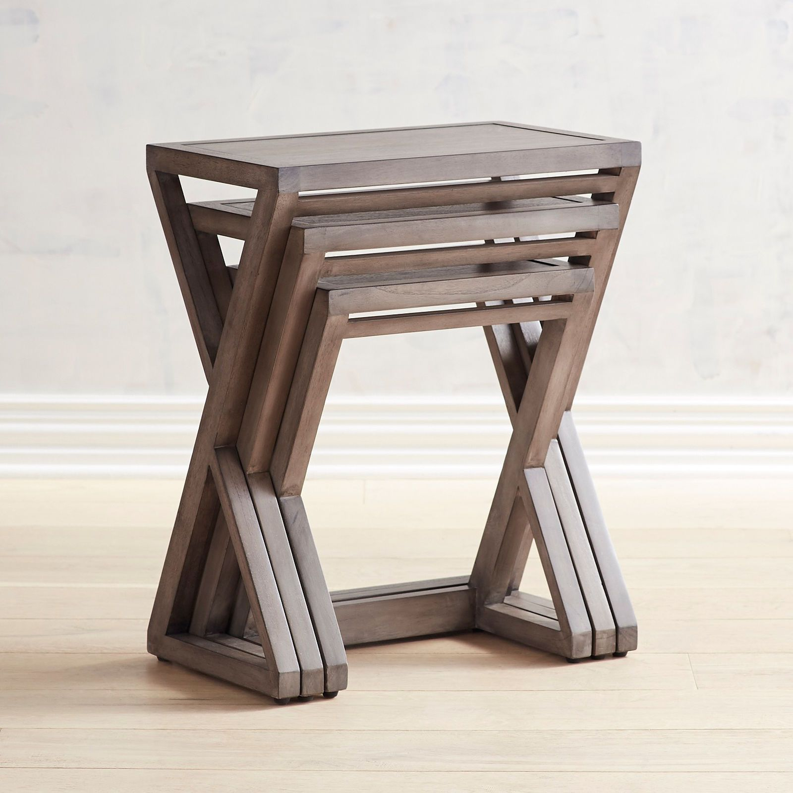 Zano Gray Nesting Tables - Pier 1 Imports
