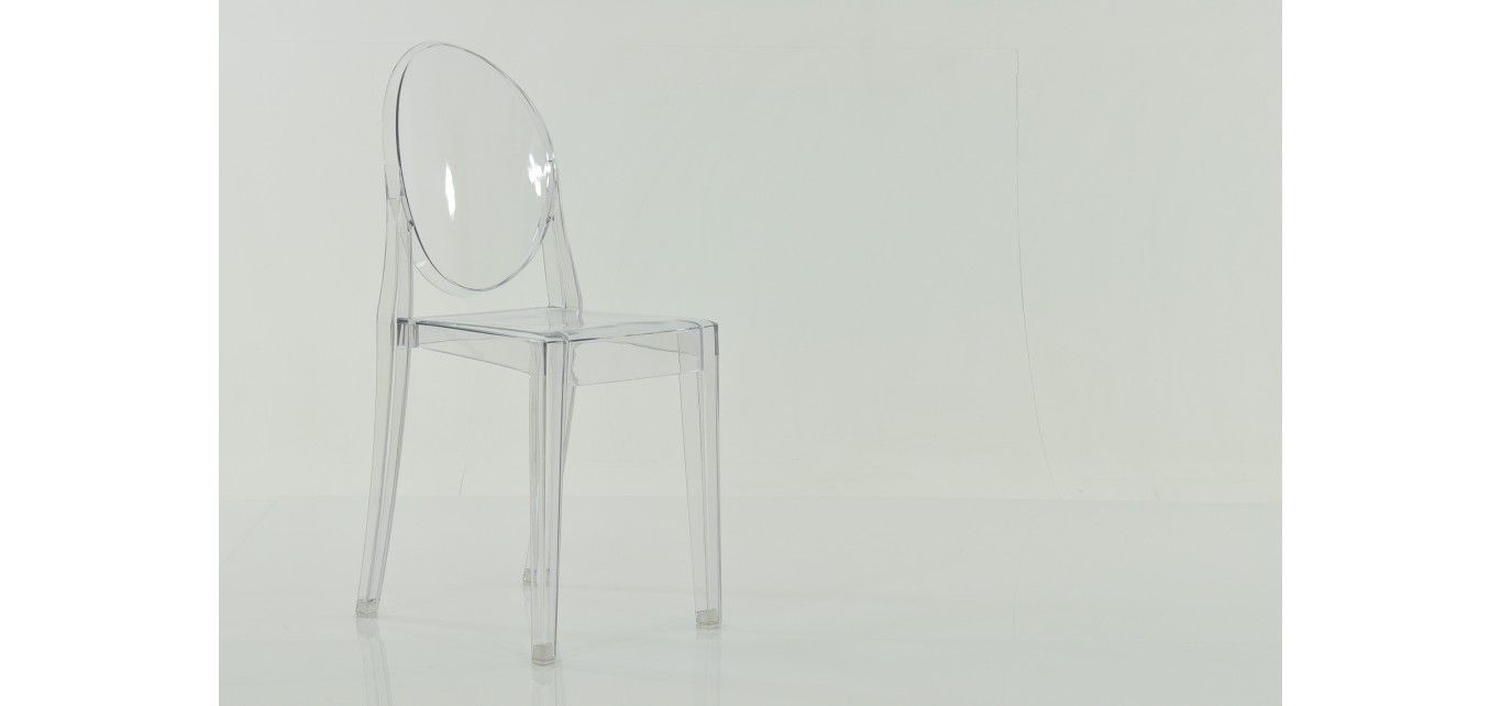 Lakeland Furniture   V Clear Ghost Chair