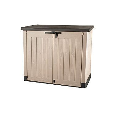 Keter Store It Out Max Resin Horizontal Outdoor Storage Shed Beige Patio Storage Storage Pool Storage