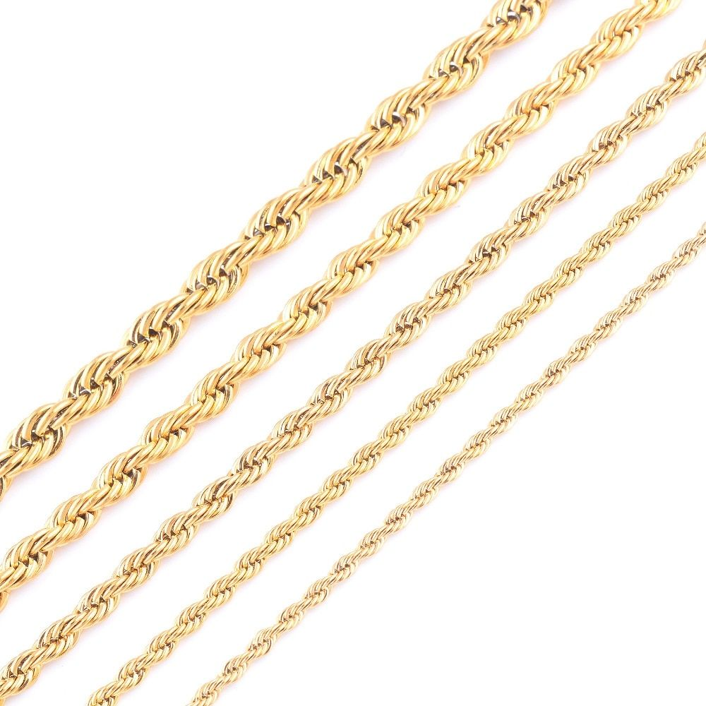 Fashion Gold Plating Spiral Chain Necklace In 2020 Gold Chains For Men Chains For Men Chains Jewelry