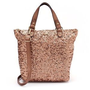2b65a1789d30 Juicy Couture Handbags - Juicy Couture Rose Gold Sequin Tote Crossbody Bag