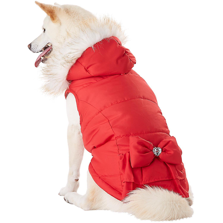 Petco Smoochie Pooch Red Ruffle Dog Jacket