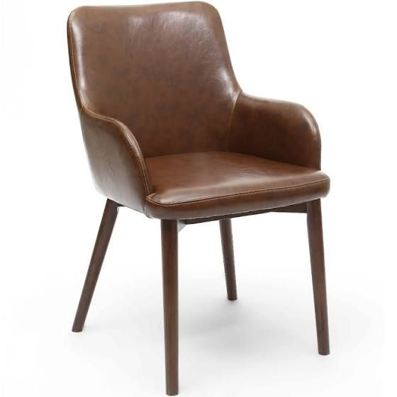 leather carver chair (With images) | Brown dining chairs ...