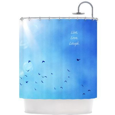 KESS InHouse Live Laugh Love Shower Curtain