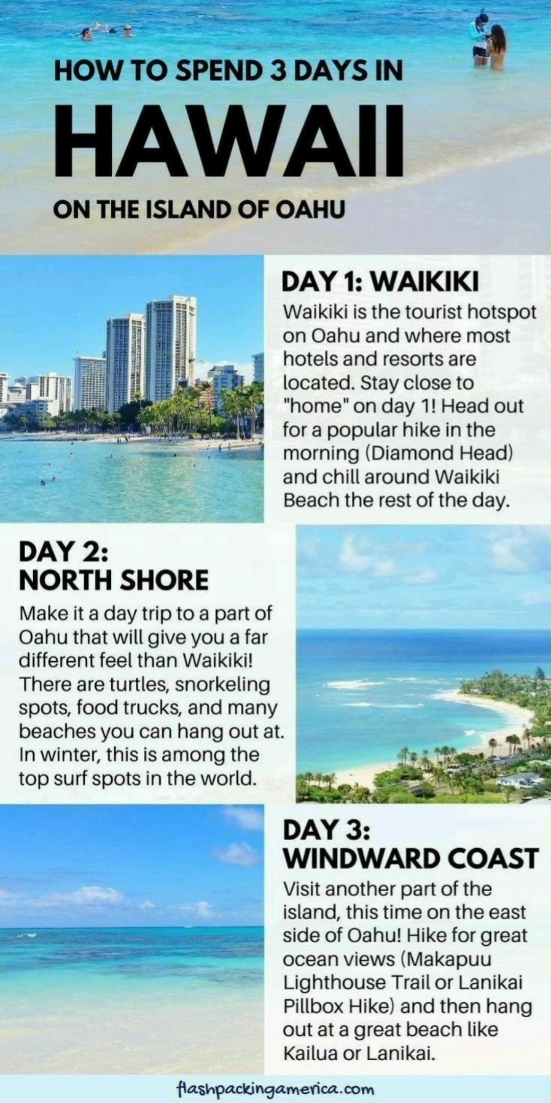 3 amazing days in Hawaii on the island of Oahu (Ho