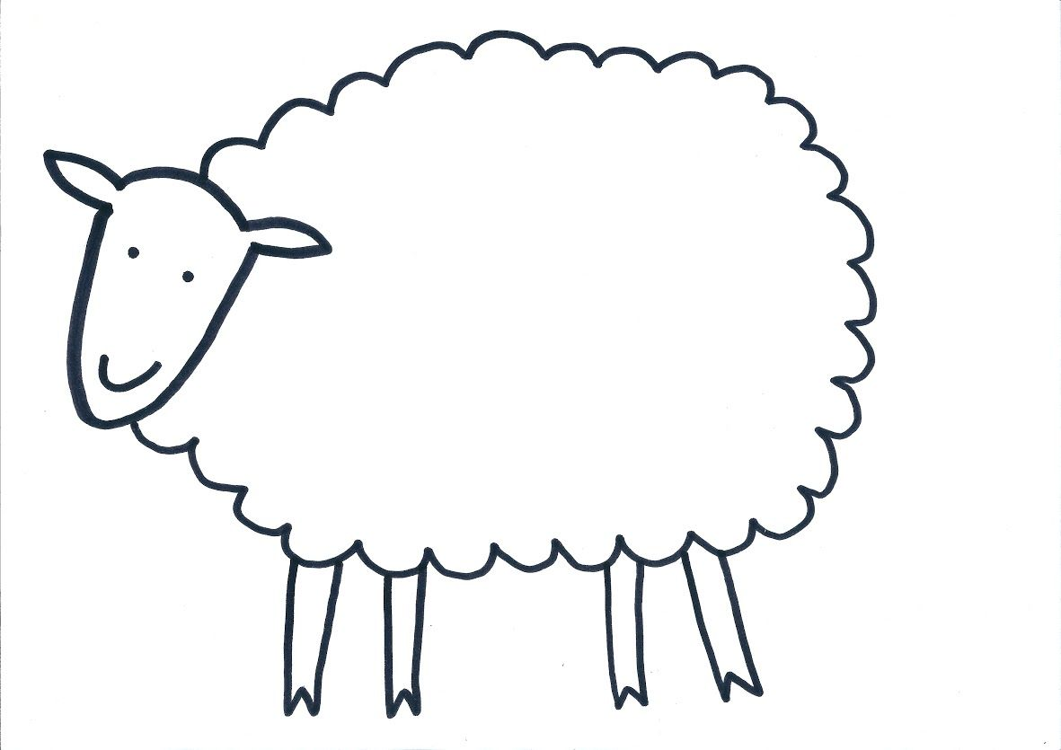 Impertinent image with sheep template printable