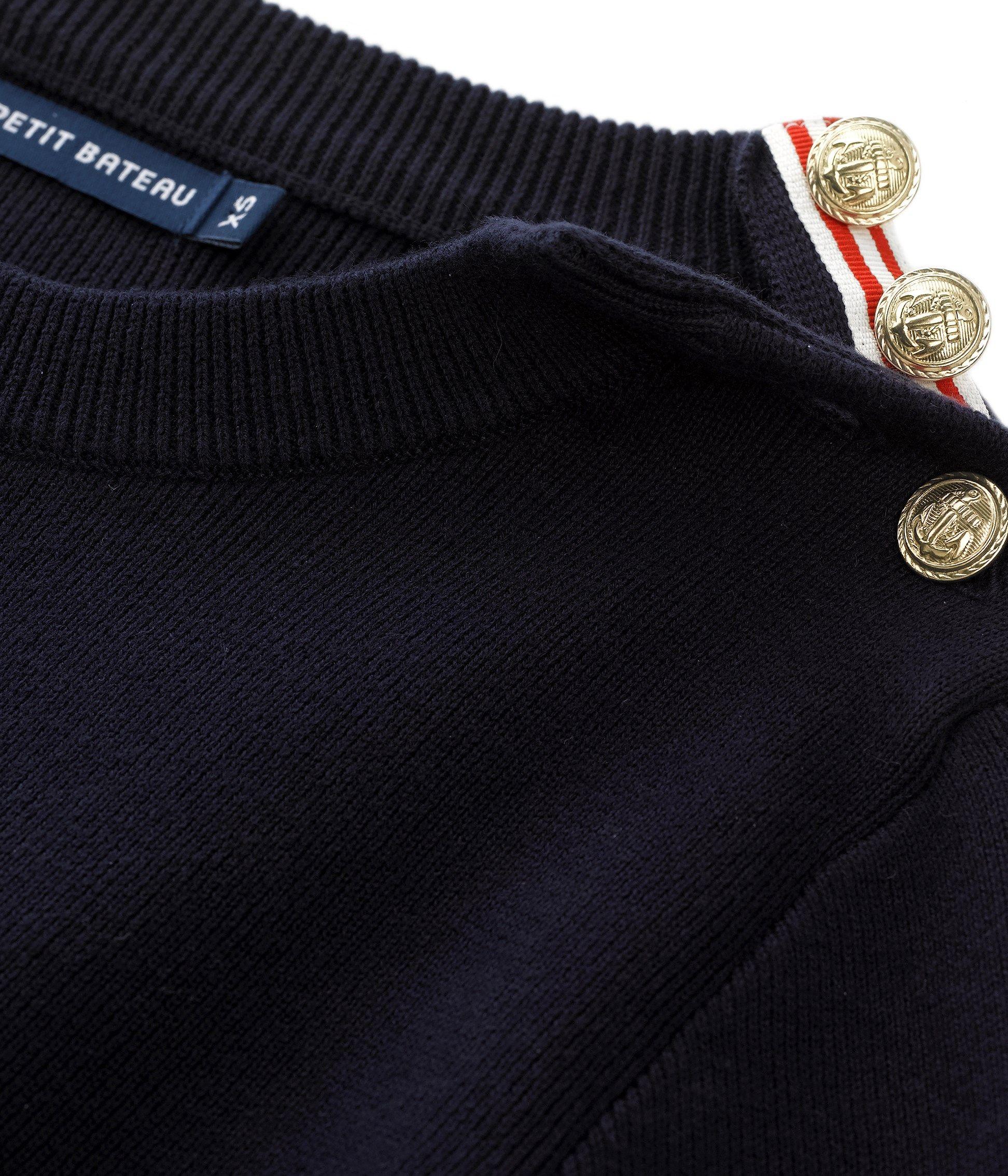 Pull Bleu De Marin L'iconique Coton En Petit Femme Tricot Bateau Uni Abysse 85dXXwq
