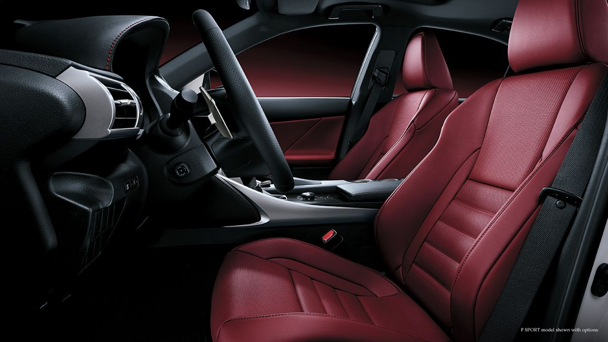 LEXUS IS F SPORT Shown with Rioja Red NuLuxe interior