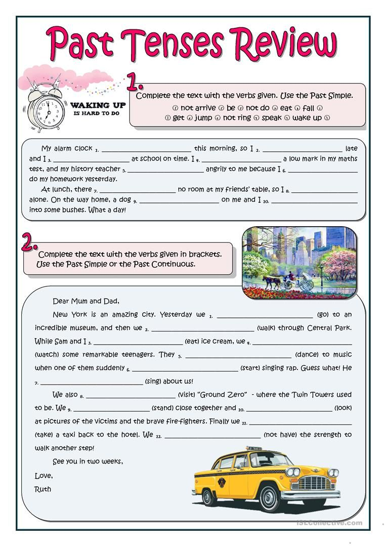 Past Tenses Review Worksheet Free Esl Printable Worksheets Made By
