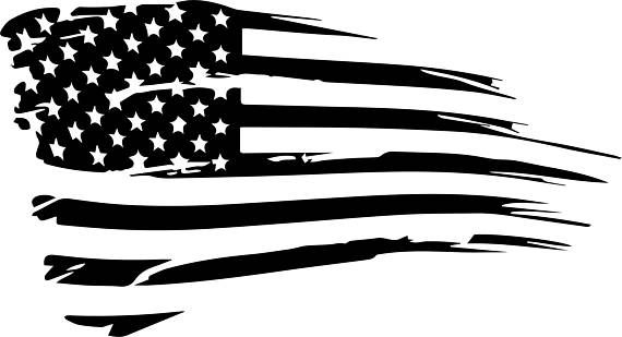 7a51cbd74273 Distressed American Flag Vector Cut File (DXF