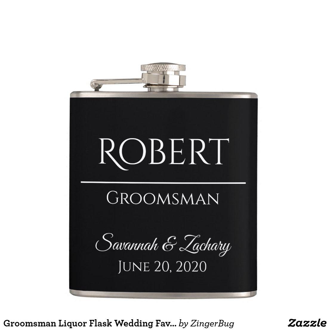 Groomsman liquor flask wedding favor gift